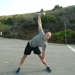 Descend towards heel with hand, keep db/kb in locked position, keep back flat