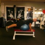 Keep body straight as possible, shoulders over wrists & legs straight
